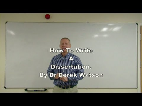 How To Write A Dissertation At Undergraduate Or Master's Level