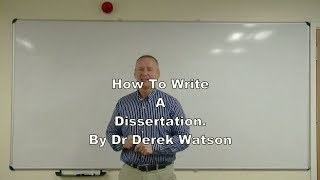 How To Write A Dissertation at Undergraduate or Master
