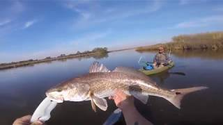 Day One In Sulpher Louisiana Catching Reds Out Of The Nucanoe Frontier 12!