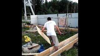 20130814 строим гараж опалубка(Айдарик играет в песочнице ,я делаю опалубку для фундамента гаража., 2016-03-10T04:44:32.000Z)