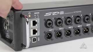SD8 I/O Stage Box with 8 Remote-Controllable MIDAS Preamps, 8 Outputs, AES50 Networking and ULTRANET