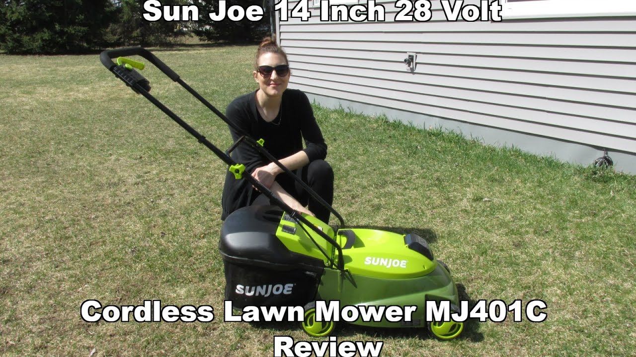 Sun Joe 14 Inch 28 Volt Cordless Lawn Mower Mj401c Review