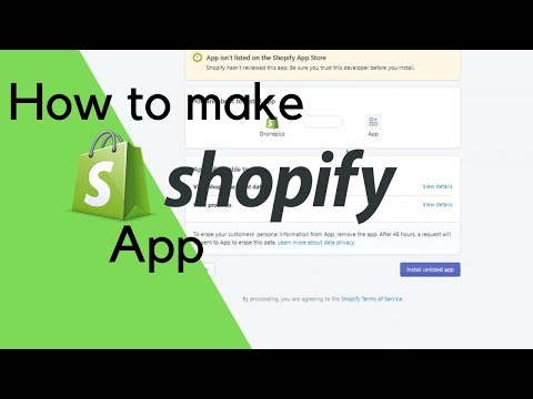 How to make shopify App with a starter