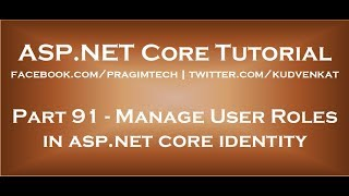 Manage user roles in asp net core identity