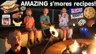DELICIOUS Gourmet S'mores with TONS of Candy!
