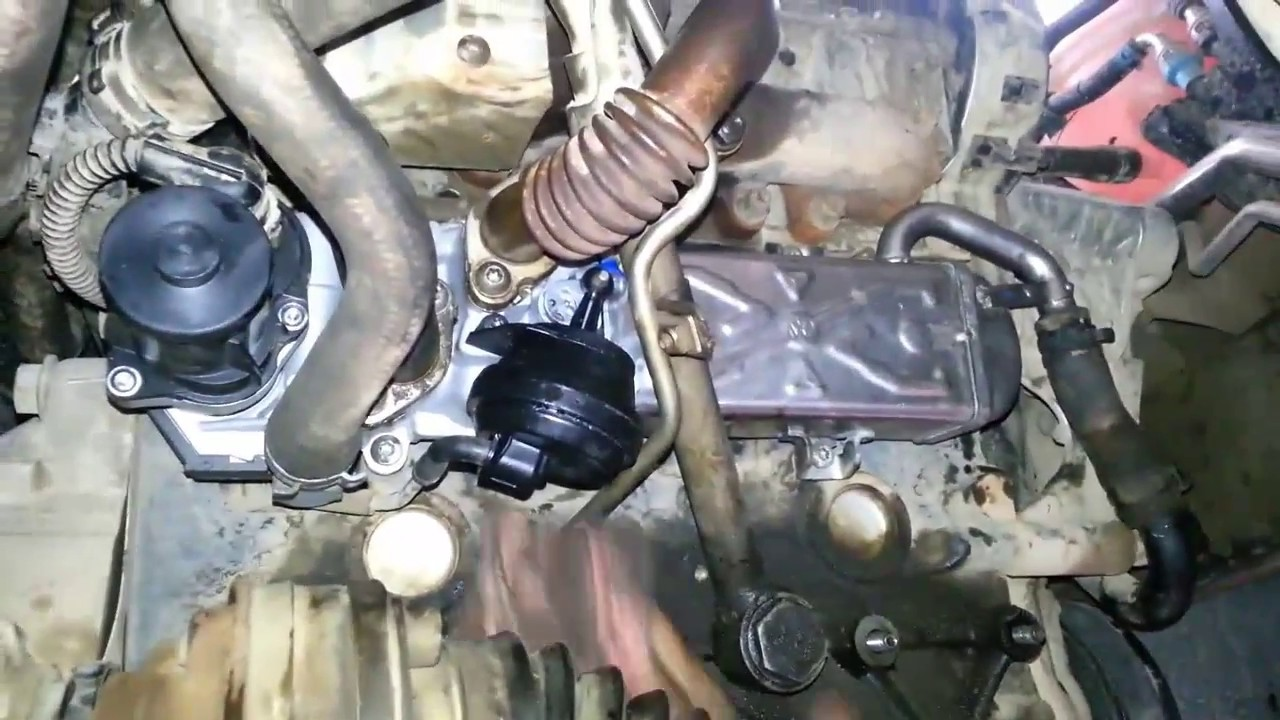 remplacement vanne egr sur vw caddy 1 6 tdi youtube