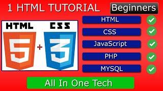 HTML/JAVASCRIPT/JQUERY/CSS/PHP/MYSQL (1) TUTORIAL.