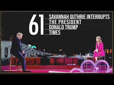 Savannah Guthrie Interrupts Trump 61 Times