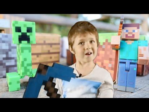 Игрушки майнкрафт и Голодные Игры. Адриан и Стив против Крипера
