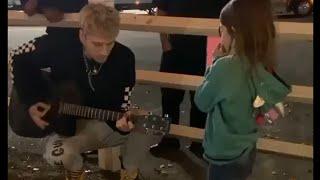 MACHINE GUN KELLY 2019 played her favorite song 😍 Heart Touching Moment | AB Muzik Video