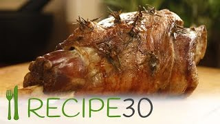 THE PERFECT ROAST LEG OF LAMB - By RECIPE30.com  Great Easter meal
