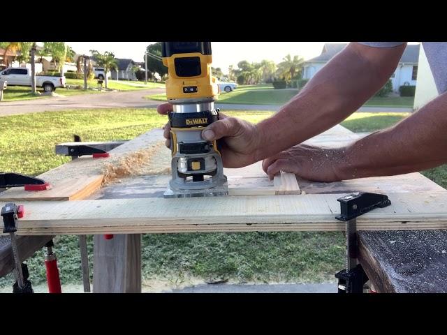 RV Trailer Build #149 - Part 4 - Building & Staining Cabinet Doors