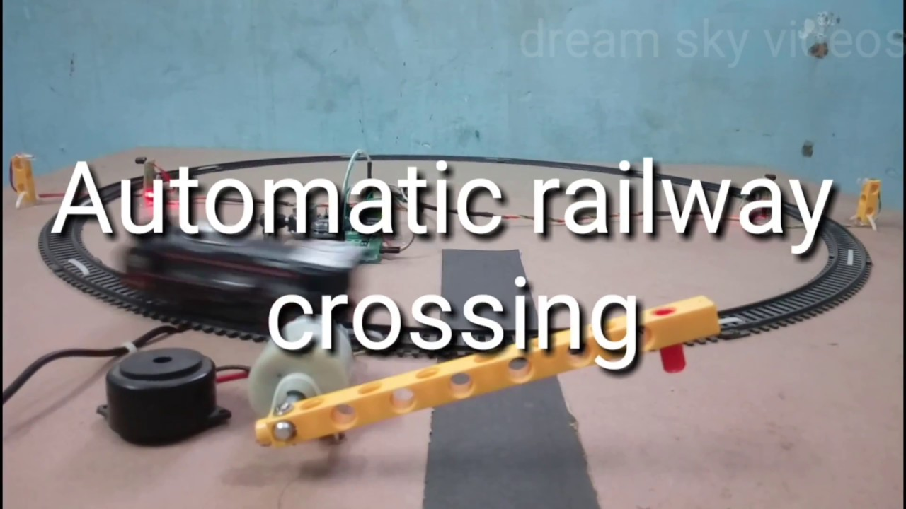Automatic Railway Crossing Using Arduino Youtube Infrared Model Train Detector Schematic