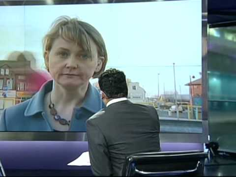 Yvette Cooper (Work and Pensions Secretary) on Channel 4 news