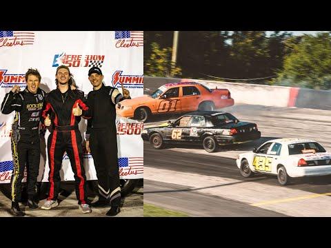 Racing Nascar Drivers, Cleetus McFarland, Travis Pastrana in the Freedom 500 - WhistlinDiesel
