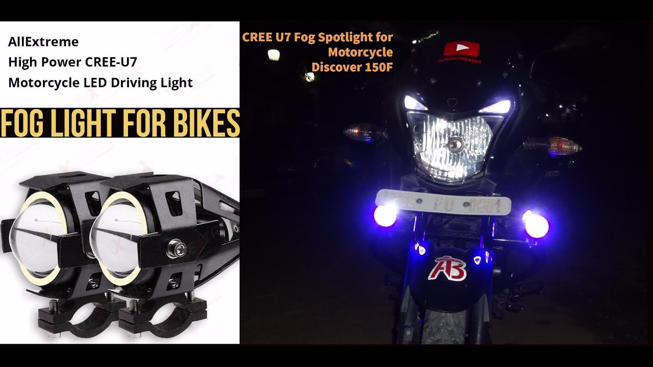 cree u7 fog light for motorcycle [ 1280 x 720 Pixel ]