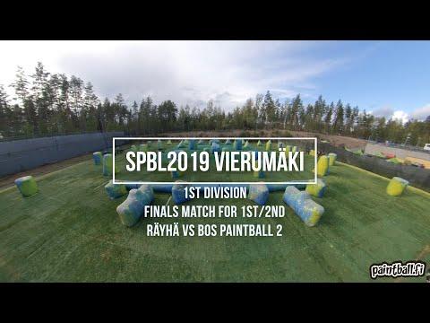 Räyhä vs BOS Paintball 2 - SPBL2019 Vierumäki