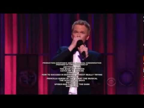 Neil Patrick Harris Closing Rap Tony Awards 2011