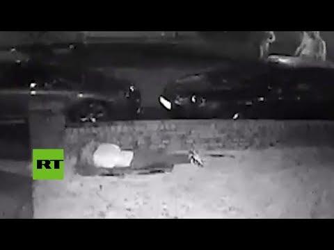 Una adolescente se esconde de matones con bates de béisbol