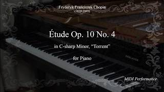 f.chopin: tude op. 10 no 4 in c-sharp minor -torrent-, for piano