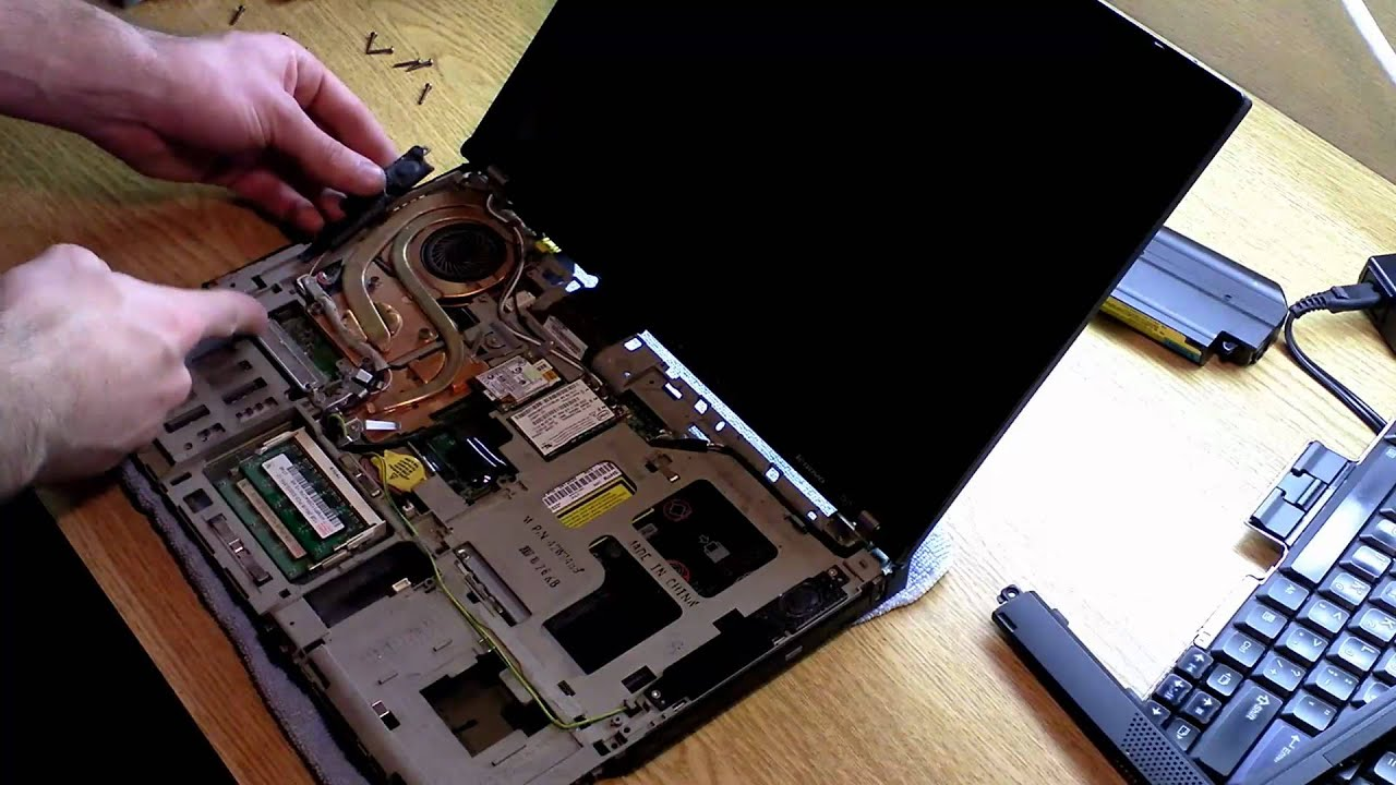 Tutorial How to replace Thinkpad T61 CPU Fan HSF Fix Fan Error Cool down CPU 1080P