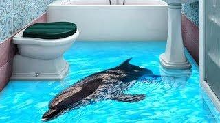 Реалистичные 3Д Полы В Ванной, От Которых Захватывает Дух