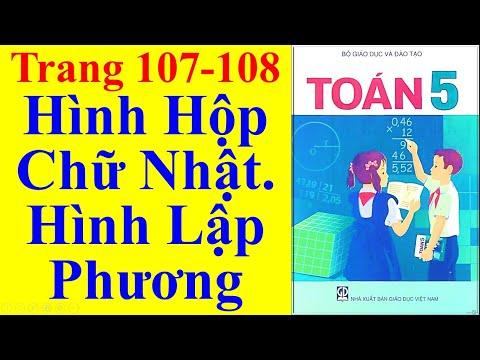 Toán Lớp 5 Trang 107 108  – Hình Hộp Chữ Nhật Hình Lập Phương