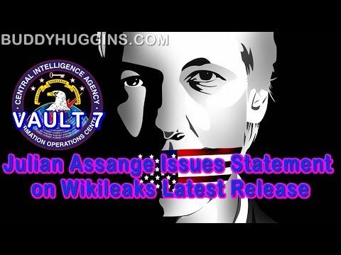 Julian Assange issues statement on wikileaks latest release #VAULT7