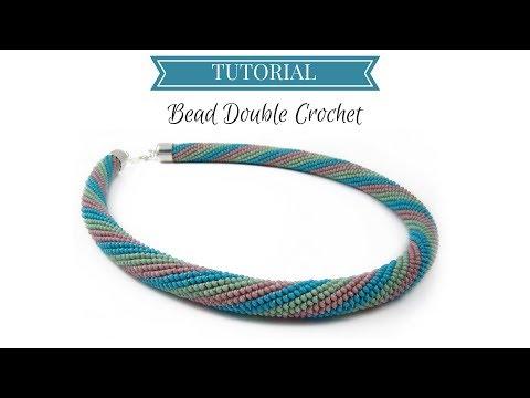 Bead crochet tutorial | Double (UK) Crochet | Bead double (UK)  crochet tutorial