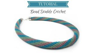 Bead crochet tutorial | Double (UK) Crochet | Bead double (UK)  crochet tutorial
