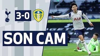 SON CAM | SPURS 3-0 LEEDS | Heung-min Son scores his 100th Spurs goal!