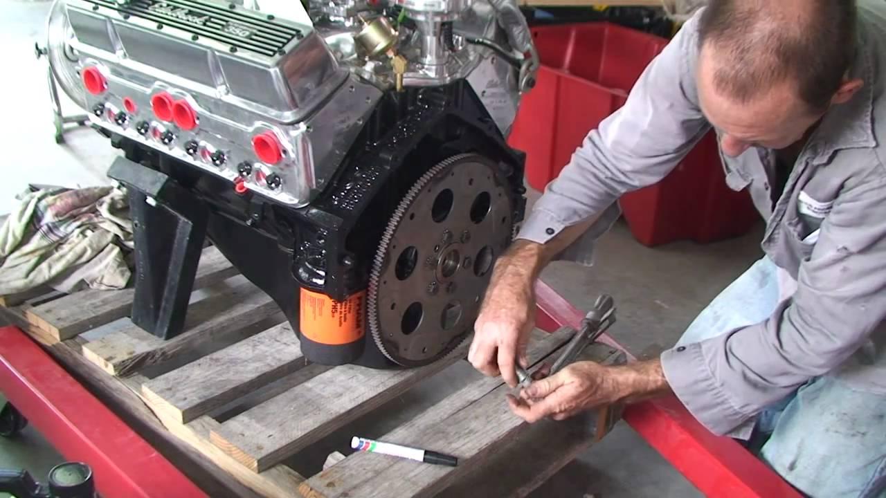 Ford Vicky Hot rod Rebuild no 25 fitting flex plate