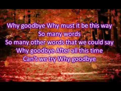 Christian Wunderlich - Why Goodbye Lyrics