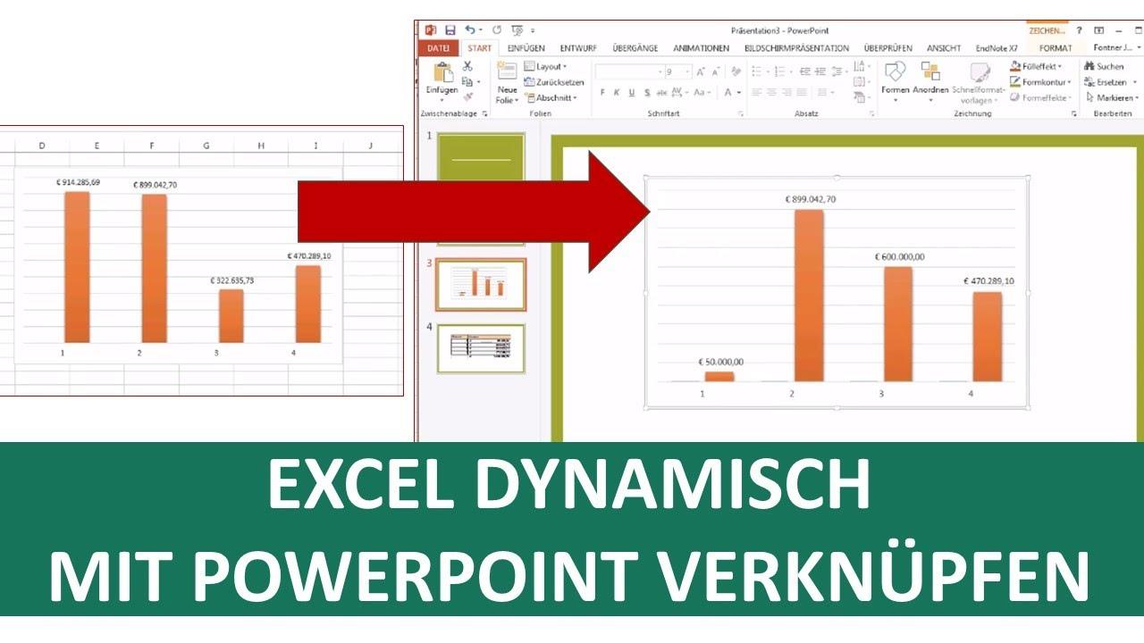 Excel Tabelle dynamisch mit PowerPoint verknüpfen   Excel Tipps I Excelpedia