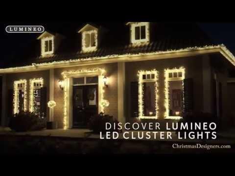 Led Christmas Lights On House.Cluster Led Christmas Lights Youtube