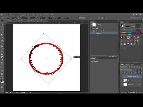 Cách viết chữ theo hình tròn trong Photoshop