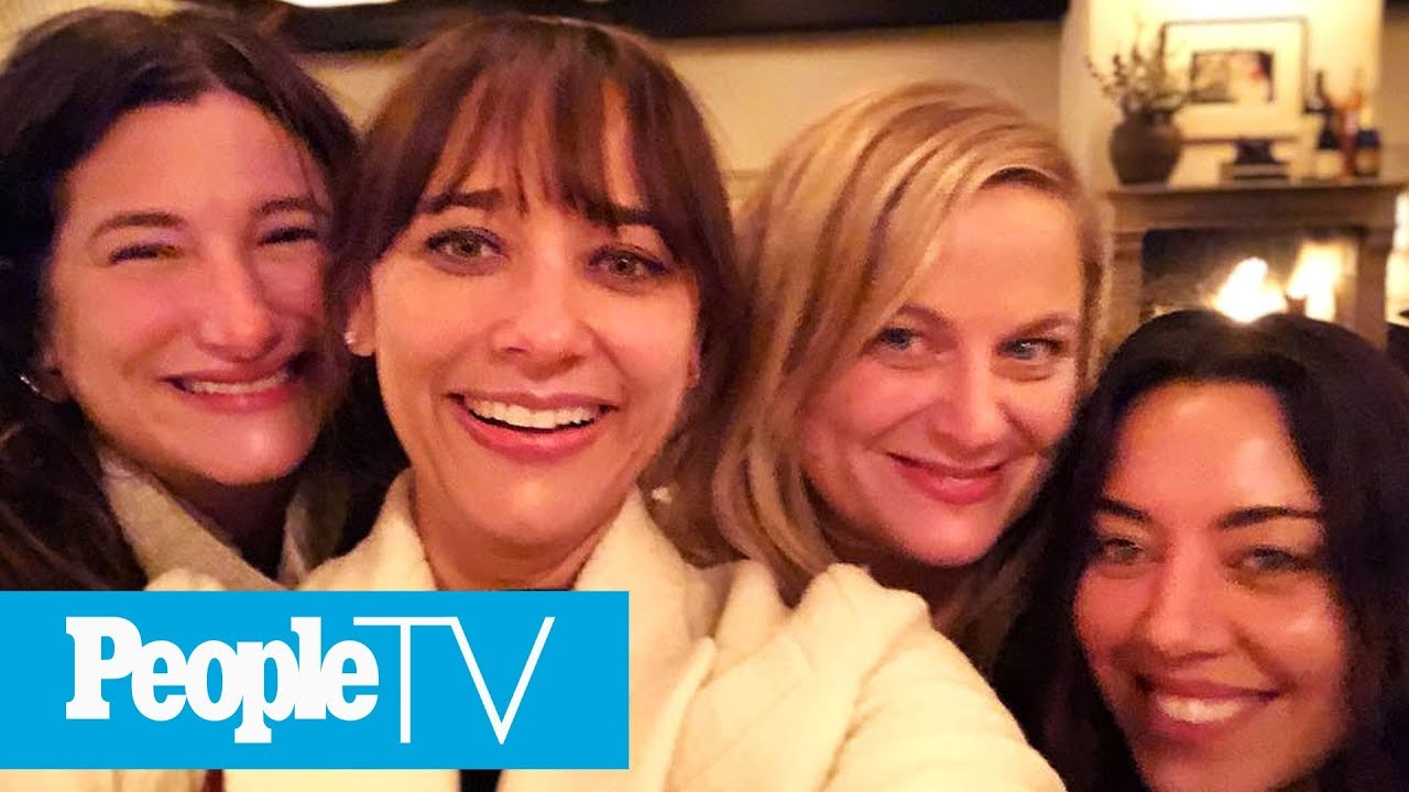 Amy Poehler Has 'Parks And Rec' Reunion With Rashida Jones To Honor  Galentine's Day | PeopleTV