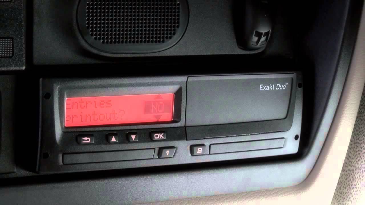 5 daf lf euro 6 digital tachograph youtube. Black Bedroom Furniture Sets. Home Design Ideas