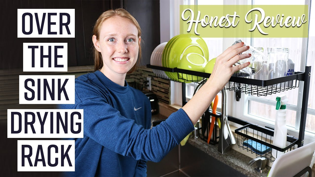 Maximize Kitchen Storage Over The Sink Dish Rack Review Youtube