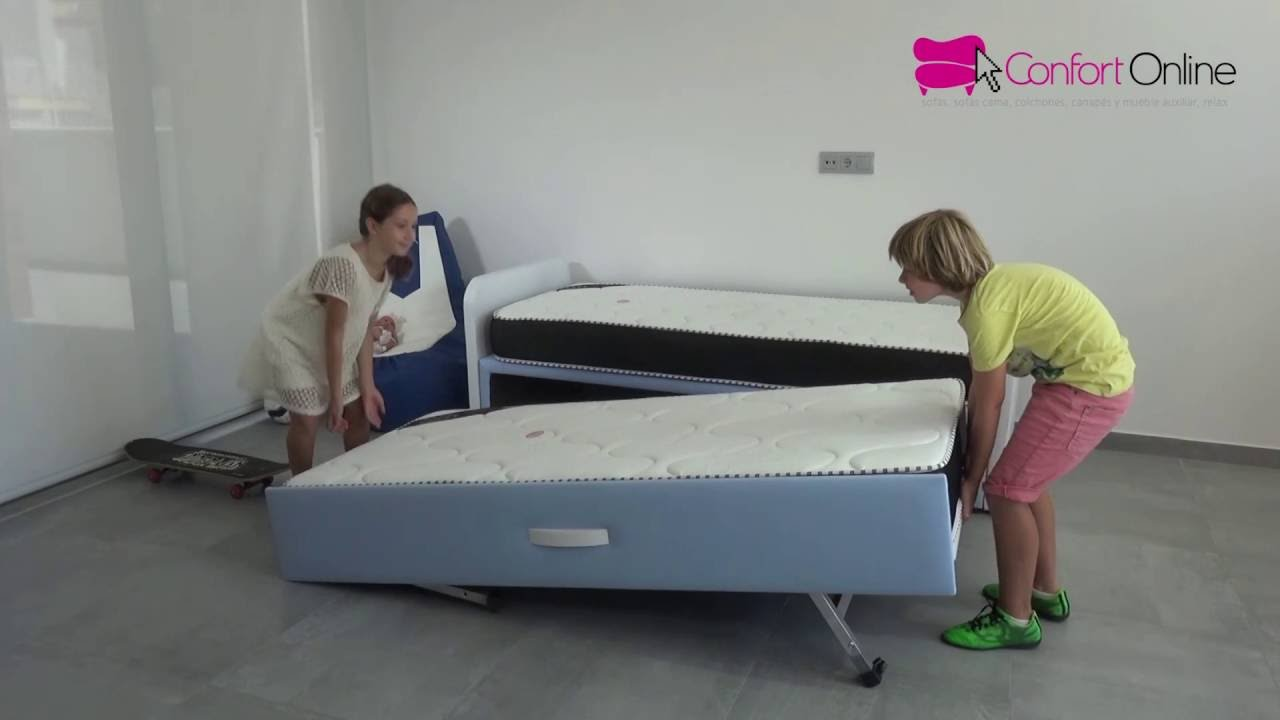 Cama nido juvenil play plus youtube for Cama nido doble de 105