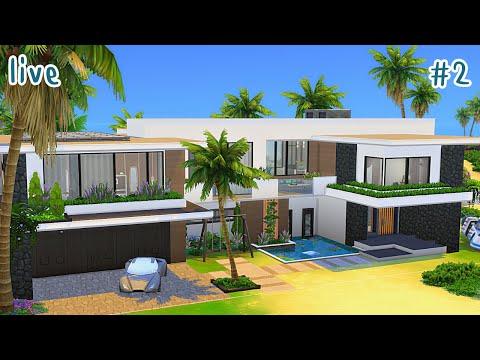 LIVE - The Sims 4 - คฤหาสน์หรู สไตล์โมเดิร์น #2