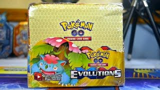 FAKE POKEMON GO EVOLUTIONS BOOSTER BOX OPENING! ALMOST 100 ULTRA RARES!