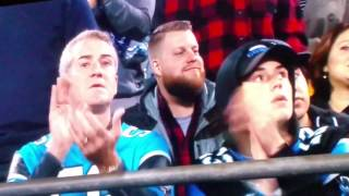 Luke Kuechly cries knee injury/concussion  vs Saints out of game fan reaction