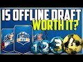 IS WORLD CUP MODE OFFLINE DRAFT WORTH IT? 15K FUT DRAFT PACK OPENING - WINNING THE DRAFT WC REWARDS