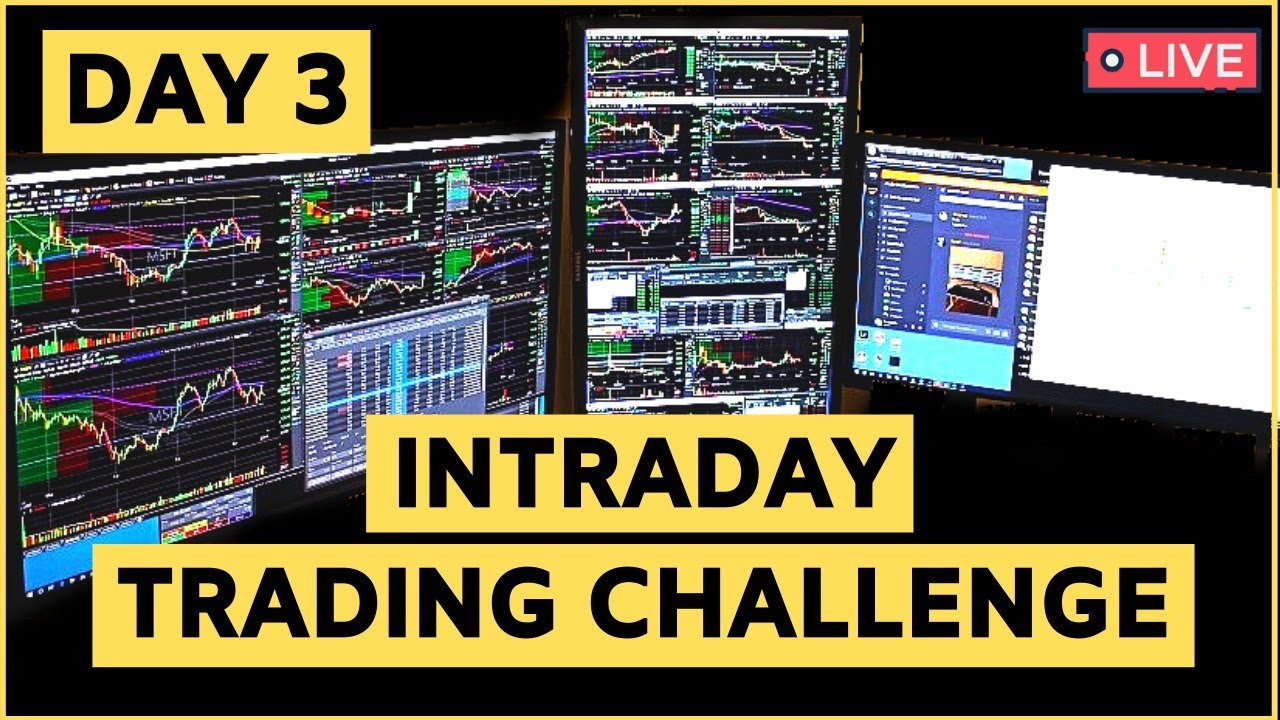 Intraday Trading Challenge : Live Stock Trading Quarterly Results With ₹50000 🔥🔥🔥 | Day 3