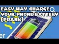 Charge Your Android Phone Battery from Solar (Prank)