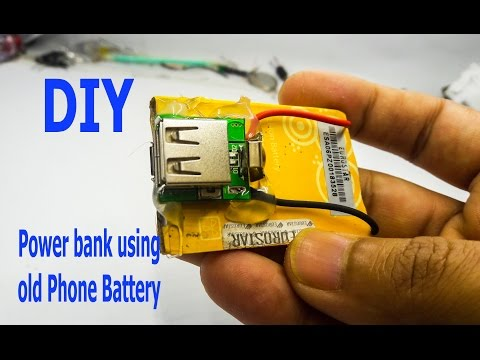 How To Make A MiNi Power Bank Using Old Phone Battery