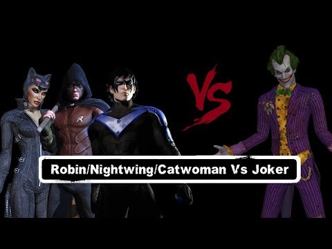 Char Swaps Batman Arkham City Robin Nightwing Catwoman Vs Joker