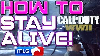 How to Stay Alive Longer / Die Less in COD WWII (Call of Duty WW2 Tips and Tricks) (Live Longer)