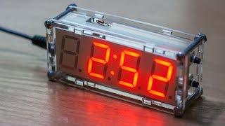 Часы 7 сегментными индикатором, DIY конструктор.